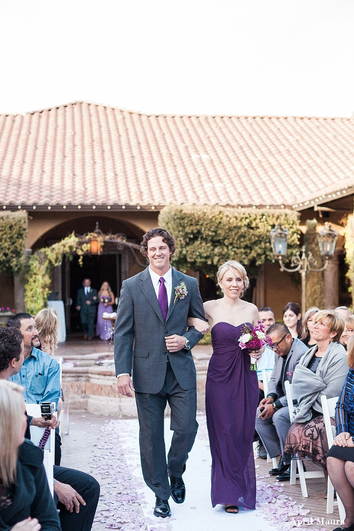 Tips for the best wedding processional order wedding tip purple and grey wedding groomsman and bridesmaid processional villa siena wedding scottsdale engagement junglespirit Images